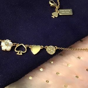 New Kate Spade Gold Mini Things charm necklace